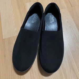 Black Vienna 2 Platform Neoprene Slip On Sneakers